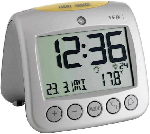 Rádiójel vezérelt digitális ébresztőóra hőmérővel, 98 x 112 x 110 mm, TFA Sonio 60.2514