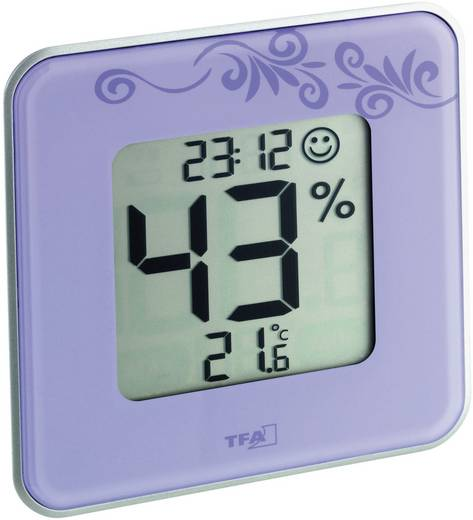 Digitális páratartalom-/hőmérő, lila, TFA Style 30.5021.11