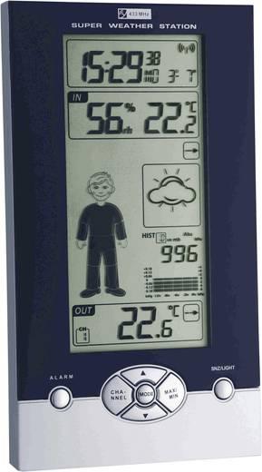 Vezeték nélküli digitális időjárásjelző állomás, fekete/ezüst, TFA Studio 35.1085