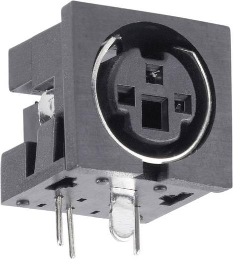 Beépíthető mini DIN aljzat, vízszintes, pólusszám: 3 fekete BKL Electronic 0204045