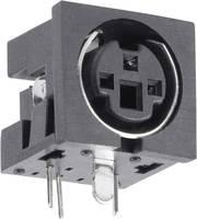 DIN kerek csatlakozóhüvely alj, beépíthető, vízszintes pólusszám: 6 fekete BKL Electronic 0204051 1 db BKL Electronic