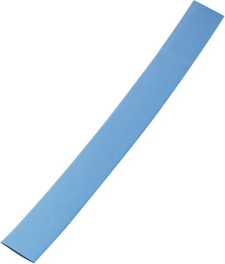 Zsugorcső, vékony falú 6 mm /2 mm , zsugorodási arány 3:1 kék színben