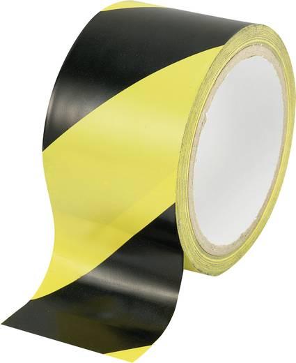 Jelölő ragasztószalag (H x Sz) 18 m x 48 mm, fekete - sárga csíkos Conrad WT-YB