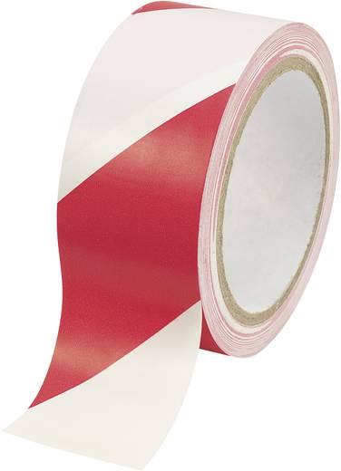 Jelölő ragasztószalag (H x Sz) 18 m x 48 mm, piros - fehér csíkos Conrad WT-WR
