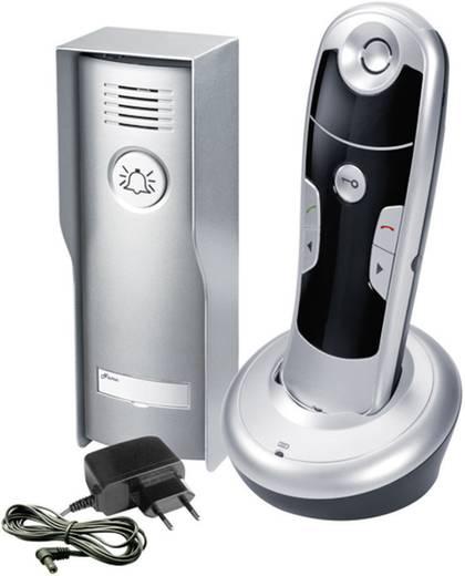 Vezeték nélküli kaputelefon, családi házhoz ezüst, fekete színben GEV 087026