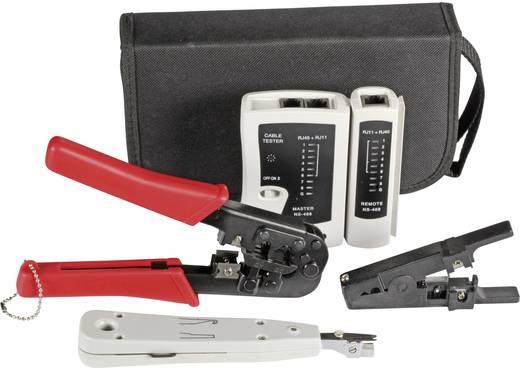 Hálózati kábel szerelő 4 részes készlet, LAN teszterrel RJ11 / RJ12 / RJ45 EFB 39919.1