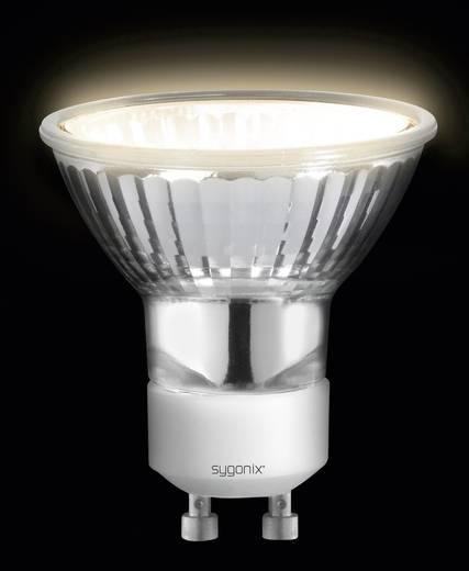 Nagyfeszültségű halogén izzó 55 mm sygonix 230 V GU10 20 W, melegfehér, EEK: E, dimmelhető