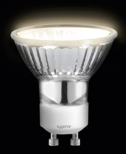 Nagyfeszültségű halogén izzó 55 mm sygonix 230 V GU10 25 W, melegfehér, EEK: E, dimmelhető