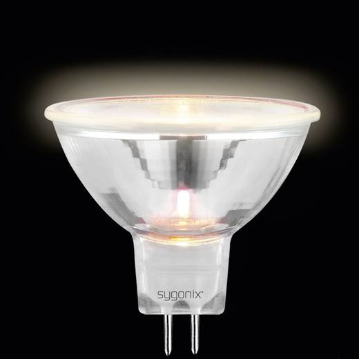 Nagyfeszültségű halogén izzó 50 mm sygonix 12 V GU5.3 10 W, melegfehér, EEK: C, dimmelhető