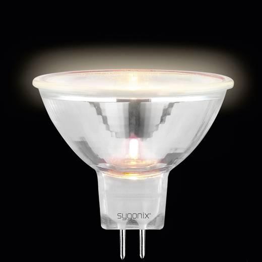 Nagyfeszültségű halogén izzó 50 mm 12 V GU5.3 35 W, melegfehér, EEK: C, dimmelhető, sygonix 20369X