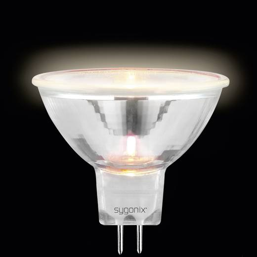 Nagyfeszültségű halogén izzó 50 mm 12 V GU5.3 50 W, melegfehér, EEK: C, dimmelhető sygonix 20369C