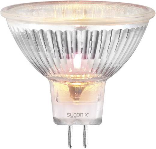 Nagyfeszültségű halogén izzó 50 mm 12 V GU5.3 20 W, melegfehér, EEK: C, dimmelhető sygonix 20365C
