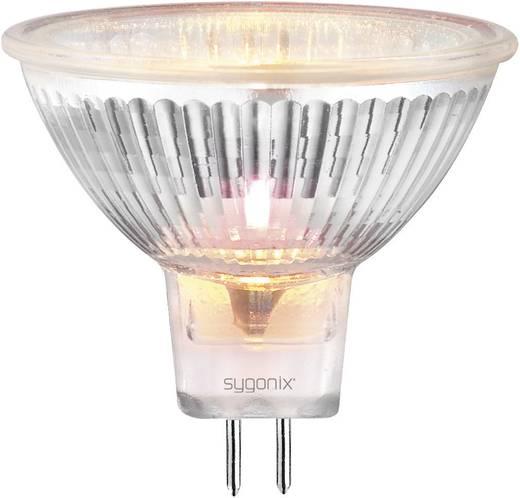 Nagyfeszültségű halogén izzó 50 mm 12 V GU5.3 50 W, melegfehér, EEK: C, dimmelhető sygonix 20362Q