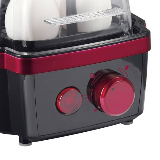 Tojásfőző 6 tojáshoz, 400 W, fekete/piros, Severin EK 3156