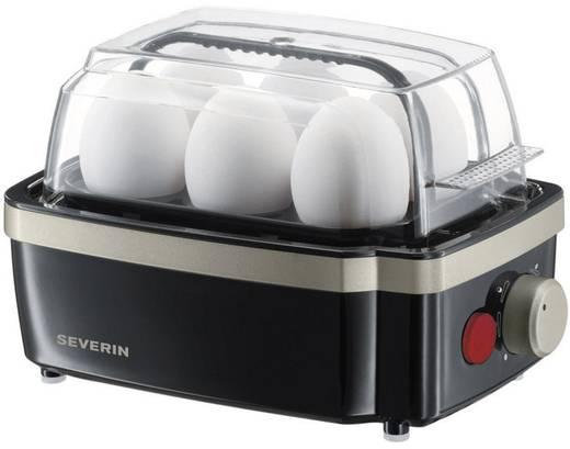 Tojásfőző 6 tojáshoz, 400 W, fekete/titán, Severin EK 3157