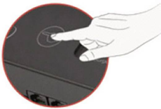 Túlfeszültségvédős hálózati elosztó 5 részes, fekete, Gembird EG-SP5-TNCU6B-RM