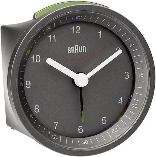 Rádiójel vezérelt analóg ébresztőóra Ø 80 x 56 mm, szürke, Braun 66035