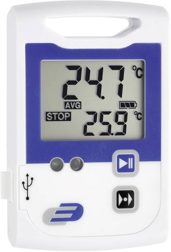 Hőmérséklet mérés adatgyűjtő, 2 x 60000 adat tárolással, -30…+70 °C, Dostmann Electronic LOG100 CRYO