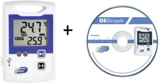 Hőmérséklet mérés adatgyűjtő szett, 2 x 60000 adat tárolással, -10…+70 °C, Dostmann Electronic LOG100 CRYO 5005-1105