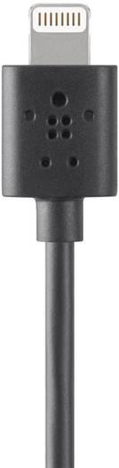 Apple töltőkábel iPhone iPad iPod adatkábel [1x USB 2.0 dugó A - 1x Apple Lightning dugó] 1,20m fekete Belkin 396675