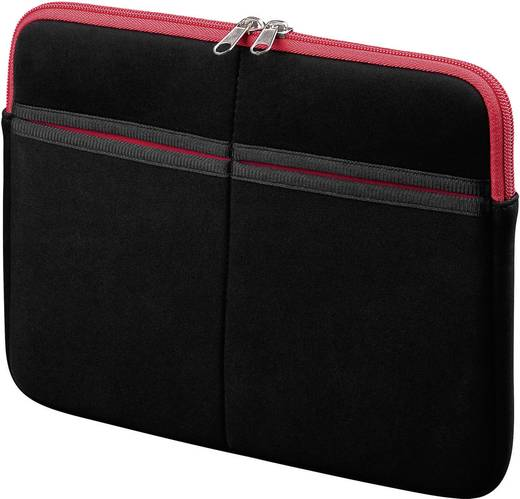 """Tablet PC tok, cipzáros, Apple iPad készülékekhez 25,65 cm (10,1"""") kijelző méretig, piros-fekete színű Goobay Sleeve 634"""