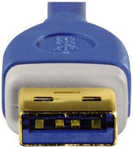 USB 3.0 Hosszabbítókábel [1x USB 3.0 dugó A - 1x USB 3.0 alj A] 1.80 m kék aranyozott dugaszolós érintkezők Hama