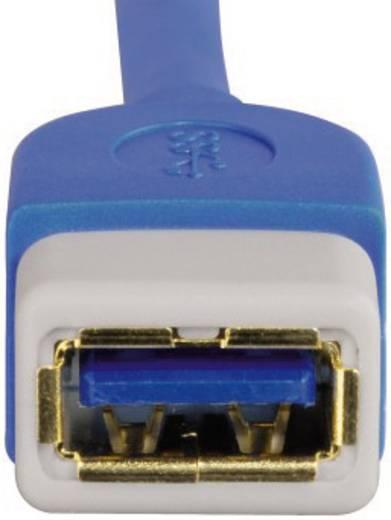 USB 3.0 Hosszabbítókábel [1x USB 3.0 dugó A - 1x USB 3.0 alj A] 3 m kék aranyozott dugaszolós érintkezők Hama