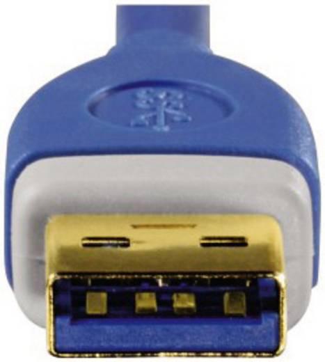 USB 3.0 Csatlakozókábel [1x USB 3.0 dugó A - 1x USB 3.0 dugó A] 1.80 m kék aranyozott dugaszolós érintkezők Hama