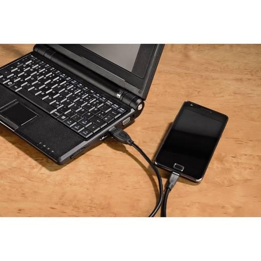 USB 2.0 Csatlakozókábel [1x USB 2.0 dugó A - 1x USB 2.0 dugó mikro-B] 1.80 m fekete Hama