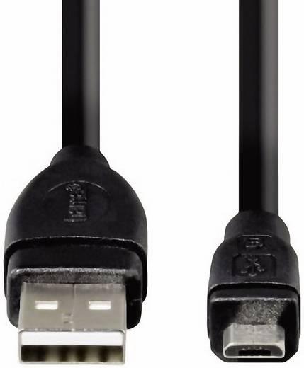 USB - mikro USB átalakító kábel [1x USB 2.0 dugó A - 1x USB 2.0 dugó mikro-B] aranyozott 0.75 m fekete Hama 78490