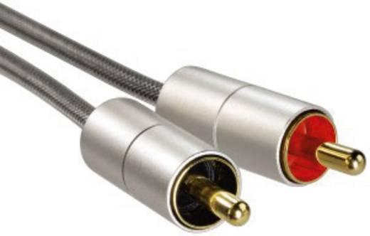Jack - RCA átalakító audio kábel [1x jack dugó 3.5 mm - 2x RCA dugó] 1m ezüst színű aranyozott érintkezőkkel Hama 106331