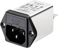 Hálózati szűrő hidegkészülék aljjal, biztosítékkal 250 V/AC 4 A 1 mH (Sz x Ma) 46 mm x 32 mm Schaffner FN 9260-4-06 1 db (FN 9260-4-06) Schaffner
