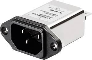 Hálózati szűrő hidegkészülék aljjal 250 V/AC 10 A 0.225 mH (Sz x Ma) 48 mm x 22.5 mm Schaffner FN 9222-10-06 1 db Schaffner