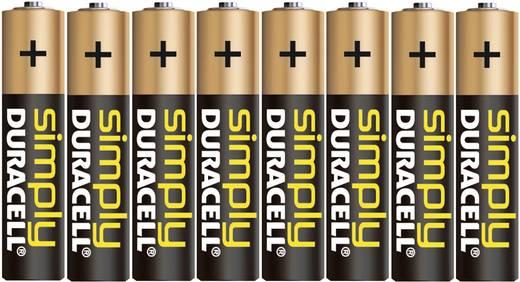 Mikroelem AAA, alkáli mangán, 1,5V, 8 db, Duracell Simply LR03, AAA, LR3, AM4M8A, AM4, S