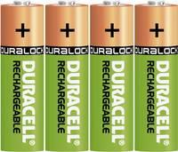 Ceruza akku AA, NiMH, 1,2V 1300 mAh, 4 db, Duracell LR06, AA, LR6, AAB4E, AM3, 815, E91, LR6N (DUR039247) Duracell