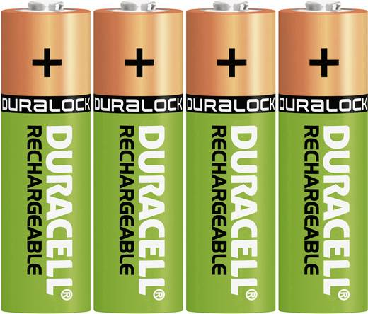 Ceruza akku AA, NiMH, 1,2V 1300 mAh, 4 db, Duracell LR06, AA, LR6, AAB4E, AM3, 815, E91, LR6N