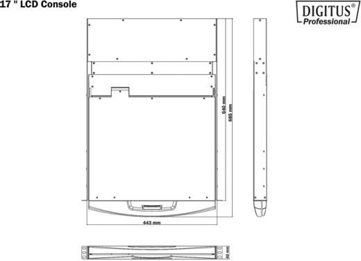 """Beépíthető 8 portos KVM switch, beépített 43,2 cm (17"""") TFT monitorral Digitus DS-72002GE"""