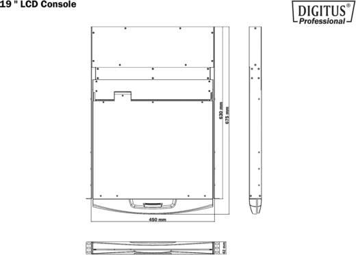 """Beépíthető 1 portos KVM switch, beépített 48,3cm (19"""") TFT monitorral Digitus DS-72011GE"""