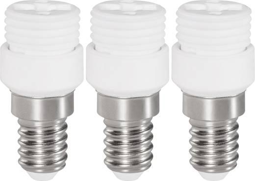 Lámpa foglalat átalakító adapter E14-ről G9-re, fehér, 3 db, Renkforce