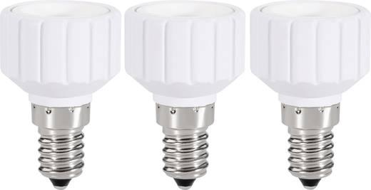 Lámpa foglalat átalakító adapter E14-ről GU10-re, fehér, 3 db, Renkforce 97029c81c