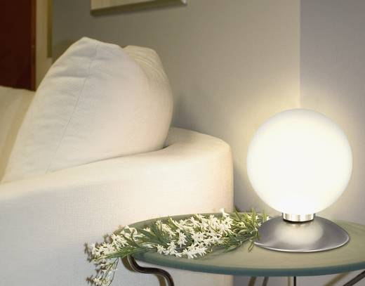 Asztali lámpa, halogén fényforrás, G9, acél, Paul Neuhaus Kugeltila 4437-55