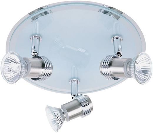 Mennyezeti lámpa, 245 mm x 115 mm, 230 V/50 Hz, GU10, 3 x 35 W, acél, Paul Neuhaus Rondell 6703-55