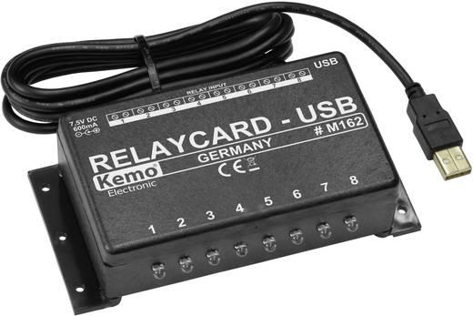 USB-s relé kártya modul, 7,5 V/DC, 8 relé kontaktus 25V/3A, Kemo M162