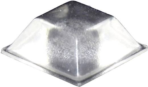 Öntapadós műszerláb, TOOLCRAFT PD2205C, 20,5 x 20,5 x 7,5 mm, átlátszó