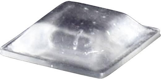 Öntapadós műszerláb, TOOLCRAFT PD2127C, 12,7 x 12,7 x 3,1 mm, átlátszó