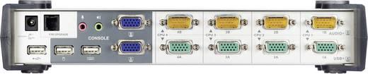4 portos KVM switch USB-vel és VGA csatlakozókkal és USB hubbal Aten CS1744C-AT