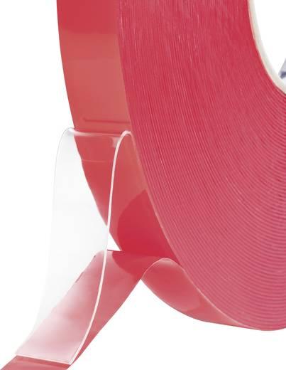 Kétoldalas ragasztó szalag 50 m x 19 mm átlátszó 832450B-C TOOLCRAFT, tartalom: 1 tekercs