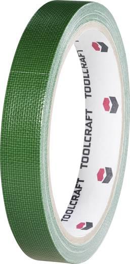 Egyoldalas szövet ragasztószalag (H x Sz) 10 m x 15 mm, zöld HEB15L10ÜC TOOLCRAFT, tartalom: 1 tekercs