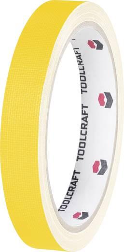 Egyoldalas szövet ragasztószalag (H x Sz) 10 m x 19 mm, sárga HEB19L10GC TOOLCRAFT, tartalom: 1 tekercs
