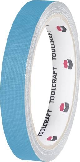 Egyoldalas szövet ragasztószalag (H x Sz) 10 m x 15 mm, kék HEB15L10BC TOOLCRAFT, tartalom: 1 tekercs